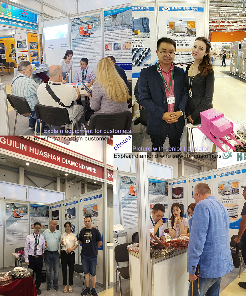 Kanghua wire saw machine in Moscow stone fair.jpg